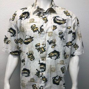 Michael Austin SS Fishing Rods Fish Shirt XXL